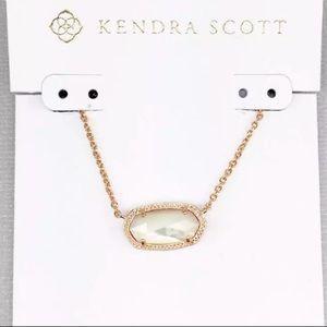Kendra Scott Elisa Ivory Pearl Pendant rose gold
